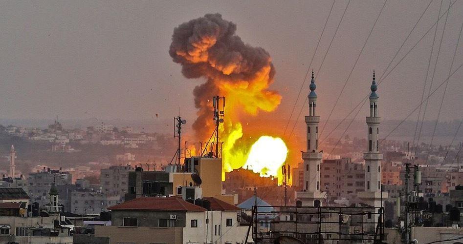 حمله جنگنده صهیونیستی به غزه