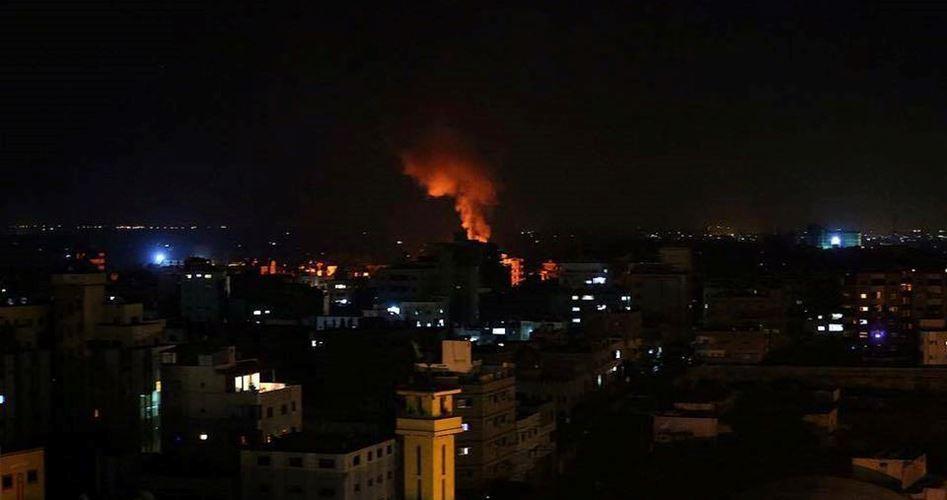 بمباران پایگاه حماس در غزه